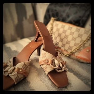 Gucci vintage shoes & handbag